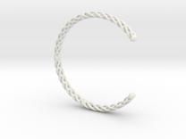 Spiral Bracelet Cuff Medium in White Strong & Flexible