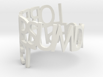 Lorem Ipsum ring in White Strong & Flexible