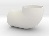 Cessna 172 Vent elbow, 0422014 in White Strong & Flexible