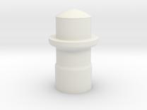 DM8 Spektrum-Futaba module enclosure BUTTON part 3 in White Strong & Flexible