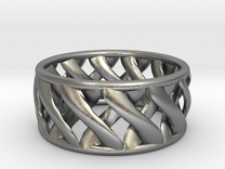 Link Ring in Raw Silver