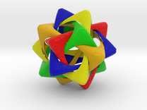 Compound of Five Rounded Tetrahedra in Full Color Sandstone