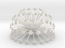 Flowerhead 8 - dense in White Strong & Flexible