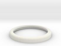 30mm Rolled Shoulder base, no insides in White Strong & Flexible