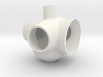 miniNL 3 vase(1/3) 3.01mm in White Strong & Flexible