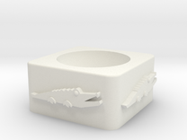 Croc Cup Shelled in White Strong & Flexible