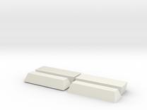 2 Coffin, TT, 1:120 in White Strong & Flexible