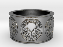 Ph'nglui mglw'nafh Cthulhu R'lyeh Ring #1, Size 12 in Premium Silver