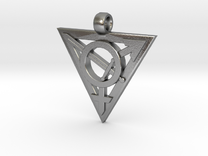 Transgender Warrior Pendant (medium) in Raw Silver