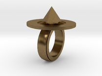 Spike Ring 20x20mm in Raw Bronze