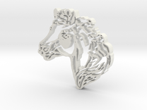 Horse Head in White Strong & Flexible