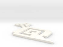 Piscle 3D Figure in White Strong & Flexible Polished