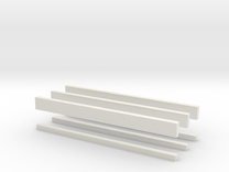 thin bars batch 2mm in White Strong & Flexible