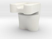 Gear Plate Bracket in White Strong & Flexible