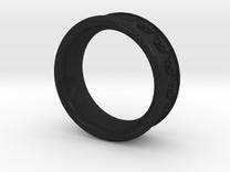 Skull Ring 9 in Black Acrylic