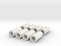 Rifle Bullet Buttons #2 in White Strong & Flexible