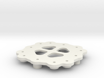 Quadrocopter - Frame Central Plate in White Strong & Flexible
