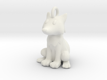 Fox Keychain in White Strong & Flexible