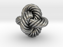 Rope Bead (S) in Raw Silver