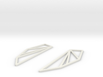 San Francisco Bay Area Earrings in White Strong & Flexible
