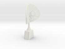 Nekomimi K9 Ears v.02 in White Strong & Flexible