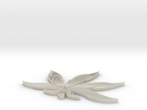 Hemp Leaf in White Acrylic