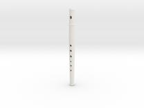 Folk flute, soprano, tapered bore in White Strong & Flexible