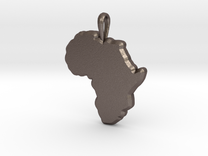 Mapa Mudo de Africa in Stainless Steel