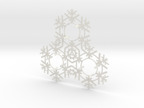 Triplet Snow Flake 2 in White Strong & Flexible