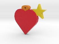 Simple heart + star in Full Color Sandstone