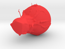Blob monster in Red Strong & Flexible Polished