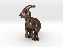 Parasaurolophus Chubbie SolidBIG 1 in Polished Bronze Steel