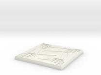 Sci-fi Mesh Floor Hazard X in White Strong & Flexible
