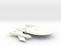 Excalibur-class in White Strong & Flexible Polished