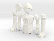 """Twiki from Buck Rogers - Mego like (fits with 8"""" f in White Strong & Flexible Polished"""