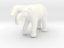 Deinotherium in White Strong & Flexible Polished