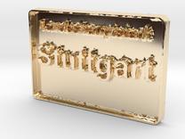 Landeshauptstadt Stuttgart 3D 50mm in 14K Gold