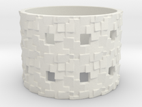Puzzle Box Ring Size 13 in White Strong & Flexible