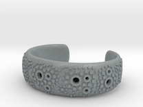 Textured Cuff - size S in Polished Metallic Plastic