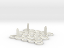 Citadel Bottle Holder 5x5 With Support Pillars in White Strong & Flexible