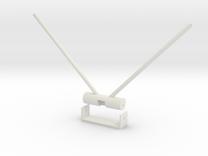 Futaba Diversity Antenna mount in White Strong & Flexible