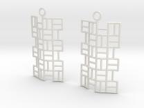 Tatami Earrings in White Strong & Flexible