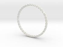 Spiral Bracelet Medium Large in White Strong & Flexible