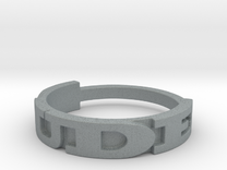 DUDE ring Size 9.5 in Polished Metallic Plastic