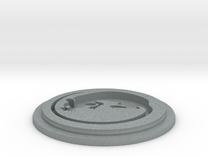 Rat Team Disk in Polished Metallic Plastic