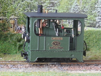 1:45 Tramway loco (complete) Backer & Rueb in White Strong & Flexible
