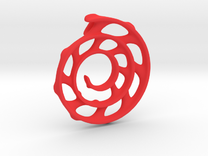 Koru Spiral: 5cm in Red Strong & Flexible Polished