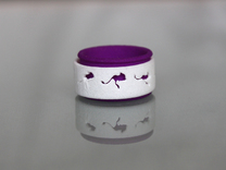 Mouse Animated Ring Sz7- part 1 of 2 in White Strong & Flexible Polished