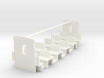 ZB (H0e) - Inneneinrichtung für B19 in White Strong & Flexible Polished