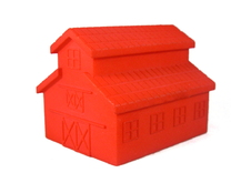 Barn, One Side Open in Red Strong & Flexible Polished